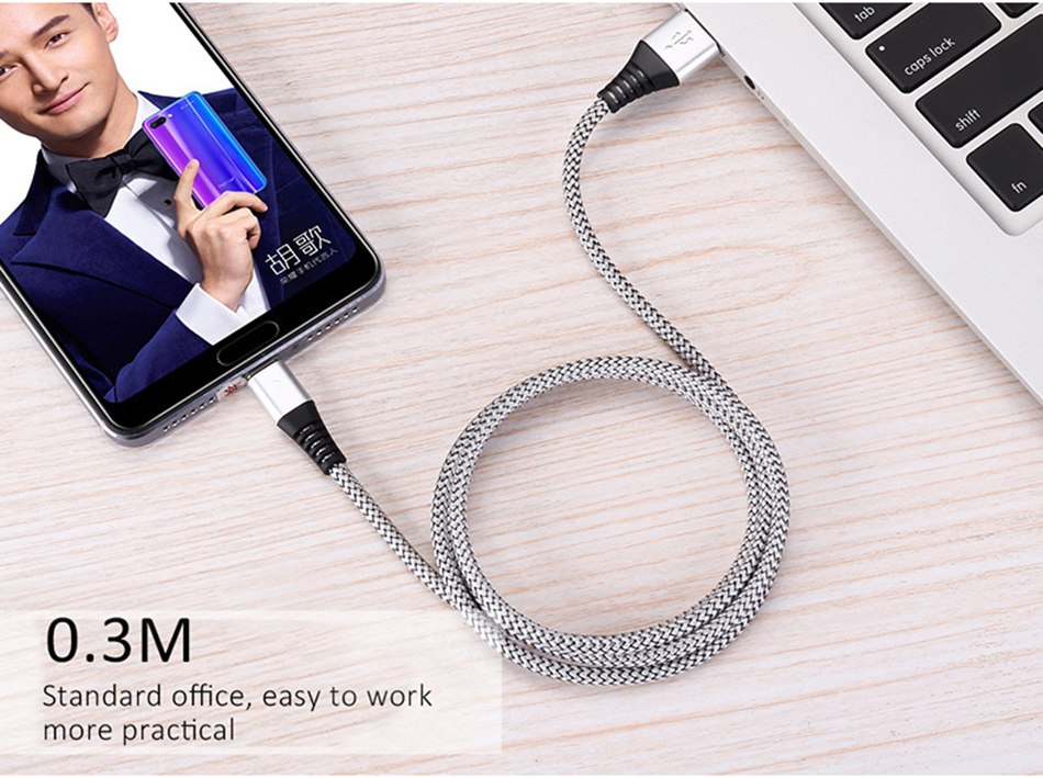 NOHON Led USB Type C Charge Sync Data Line For SamSung Gaxaly S8 Plus 2.4A Fast Charging For Xiaomi Mi5 Phone Charger Cable 1 (17)