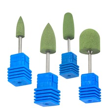 4 Style Rotary Rubber&Silicon Carbide Buffer Nail Drill Bit Remove Clean UV Gel Polish Dust for Electric Manicure Tool CHGJ01-04