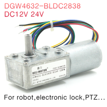 DGW4632-BLDC2838 DC Brushless worm gear motor Big torque DC12V 24V For robot,electronic lock,PTZ...(China)
