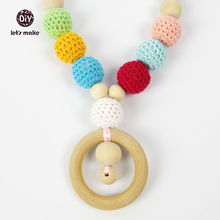 Let's Make Organic Rainbow Teething necklace / Baby wearing necklace / Nursing necklace / Breastfeeding necklace