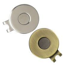 Strong magnetic Silver Color Blank Golf Hat Clip& Visor Cap Clip, Dia 25.4mm, Suitable for Any Metal Golf Ball Markers