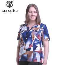 SARSALLYA  New Fashion Short Sleeve Street Style Graphic Funny Print Tees Casual Loose Women T-shirt Large size T-shirt