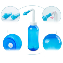 High Quality 300ml Nasal Rinsing Nose Wash Bottle System Neti Pot for Adult and Children Blue(China)