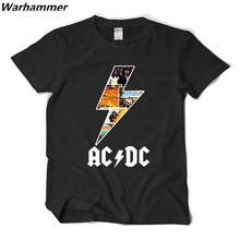 EUROPEAN ROCK BAND AC/ DC BAND T-shirt top tees O-neck big yard plus size hip hop music man woman matching t-shirt free shipping