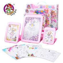 Small diy Magic electronic Digital drawing board hand painting plate child puzzle set 3 - 6 birthday gift Writing Tablet(China)