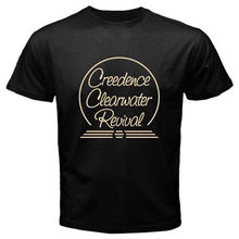CCR Creedence Clearwater Revival Rock Legend Men's Black T-Shirt Size S To 2XL T Shirt Men Tees Brand Clothing Funny(China)