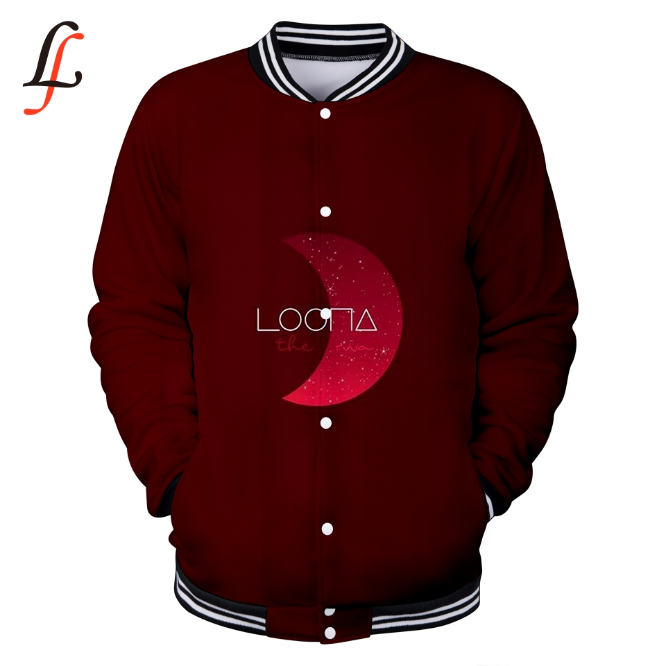 Kpop Baseball jacket winter hoodies Luna 3D print 4XL men popular Bangtan Hip hop harajuku women Casual Fashion Baseball Jacket