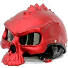 Newest Novelty Retro Casque Monster Motorcycle Helmet Half Face Helmets Motor Capacetes Capacete Motoqueiro(China)