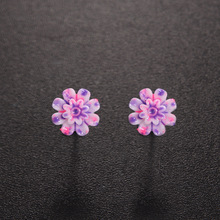 6 Pairs/Set Resin Colorful Daisy Flower Ear Stud Earrings Women Girl Fashion Party Jewelry