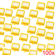 100% Brand New 100 pcs/lot Yellow Hepa Filter Filters for iRobot Roomba 700 Series 760 770 780 Free Shipping Factory Wholesale
