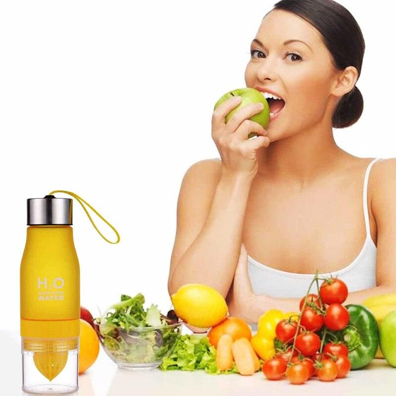 Human - 650ML Lightweight Fruit Bottle Infuser Juice Water Bottle for Healthy Drinking
