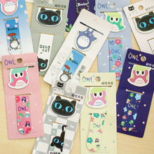 2pc/lot magnetic bookmark totoro black cat owl cute cartoon animal bookmarks school office supplies stationery