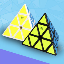 QiYi QiMingA 3X3XProfessional Speed Cube Triangle Shape Pyraminx Puzzle Cube Game Educational Brain Teaser Toy(China)