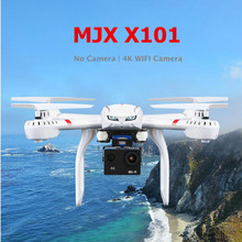 RC Helicopter MJX X101 X101S RC Drone with 4K Wifi Camera Or No Camera professional Quadcopter Dron 3D Roll Headless Mode(China)