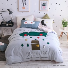 TUTUBIRD design log cabin bedding brife Art style kid adult sheets sets linens cotton bedspread Queen twin size  cover set