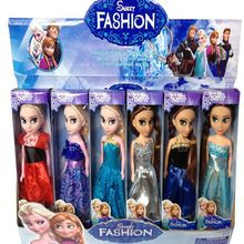 High Quality 6PCS/Lot Boneca 17cm Elsa Doll Girls Toys Fever 2 Princess Anna And Elsa Dolls Clothes For Dolls Children Gifts XH1