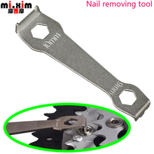 Bicycle repair tooth disc wrench tool tooth nail screws spools tooth disc screw word Bicycle nail plate disassembly tool wrench(China)