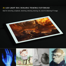 Portable A3 LED Light Box Drawing Tracing Tracer Copy Board Table Pad Panel Copy board with Stepless Function Brightness Control