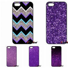 For iPhone 4 4S 5 5C SE 6 6S 7 Plus Galaxy J5 J3 A5 A3 2016 S5 S7 S6 Edge Fashion Purple sparkle Glitter Print Hard Phone Case