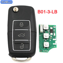 B01-3-LB Universal 3 Button Remote Control Smart Car Key Fob for KD900 KD900+ URG200 KD200 Mini KD B-Series Remote Key(China)