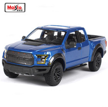 High Simulation Maisto 1/24 2017 Ford F-150 Raptor PICKUP Truck Diecast Car Model Metal Car Toy For Kids Birthday Gifts Toy