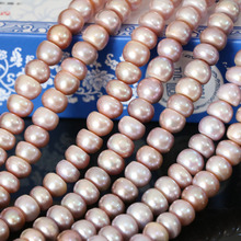 Charms natural freshwater cultured pearl purple abacus beads 9-10mm beautiful fashion top quality jewelry making 15inch B1384