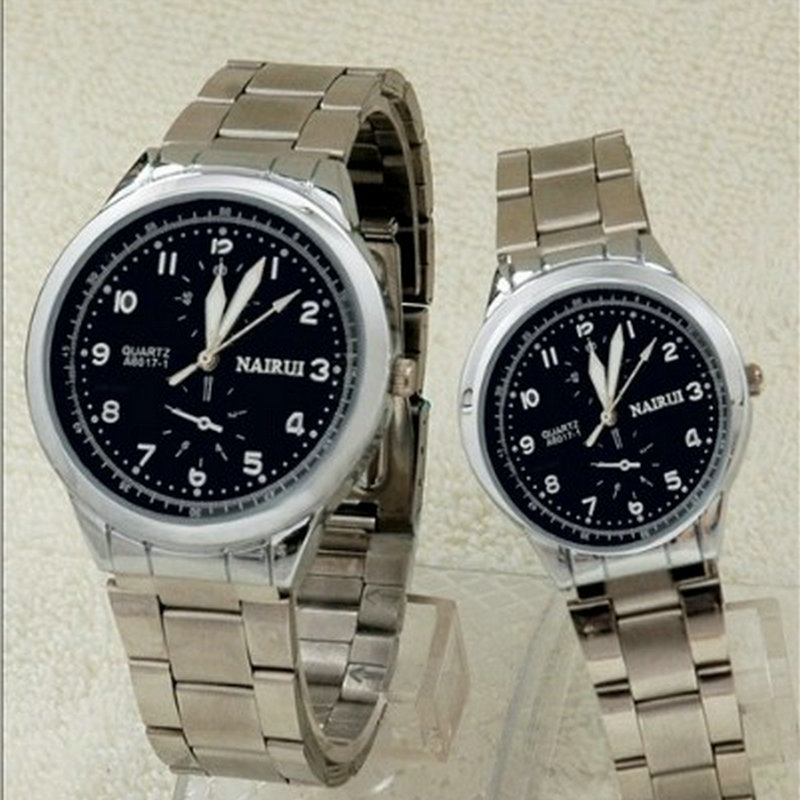New business casual fashion watch male and female students temperament characteristic dial retro couple table calendar display<br>