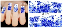 newest China nail decal XF1372-1421 flower full nail sticker