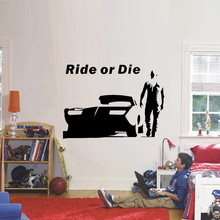 The Fast and Furious Wall Stickers Home Decoration for Boys Wall Decal Quotes and Sayings Cars Drift Wallpaper Kids Wall Art