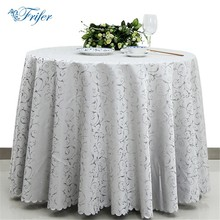 Fashion Tablecloth Jacquard Damask Table Cover Round Overlay Table Cloth Stain Resistant Tablecloths For Weddings Restaurant