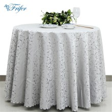 Fashion Tablecloth Jacquard Damask Table Cover Round Overlay Table Cloth Stain Resistant Tablecloths For Weddings Restaurant(China)