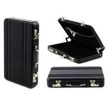 New card holder men unique Metal Mini Suitcase Business Bank Card Name Card Holder mini Box porte carte organizador hot sale#5(China)