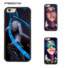 PEIDAN League of Legends Jinx LOL cover cell phone case for iphone X 4 4s 5 5s 6 6s 7 8 6 plus 6s plus 7 plus 8 plus #ee294(China)