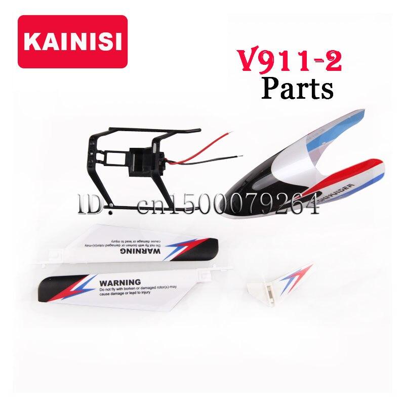 1sets/Lot V911-2 Main Rotor + canopy parts for four-channel 2.4G V911-2 Remote Control Helicopter WLtoys V911 V911-1 Upgrade<br><br>Aliexpress