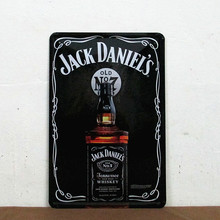 "Vintage ""Jack Daniel's"" Tennessee Whiskey,Retro Metal Signs Tin Plate Sign, Bar Mural Decoration,Wall, Free Shipping 30*20cm"