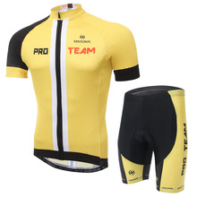 XINTOWN Men 2017 Pro Team Cycling Jersey Suit Short Sleeve Summer Breathable Bike Clothes Skinny Shorts Discount Sportswear(China)