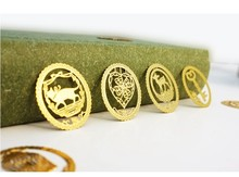 20pcs / Set Vintage Lace round Matel Bookmarks Stainless Steel 7 design Novelty Gifts/wholesale(China)