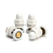 Hotsale 500PCS/lot 19mm/20mm/25mm/27mm Dia Shower Bath Door Rollers Runners Wheels Pulleys Long Lasting(China)