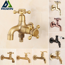 Free Shipping Multi-functions Bathroom Cold Water Faucet Single Handle Brass Washing Machine Tap Faucet Bibcocks(China)