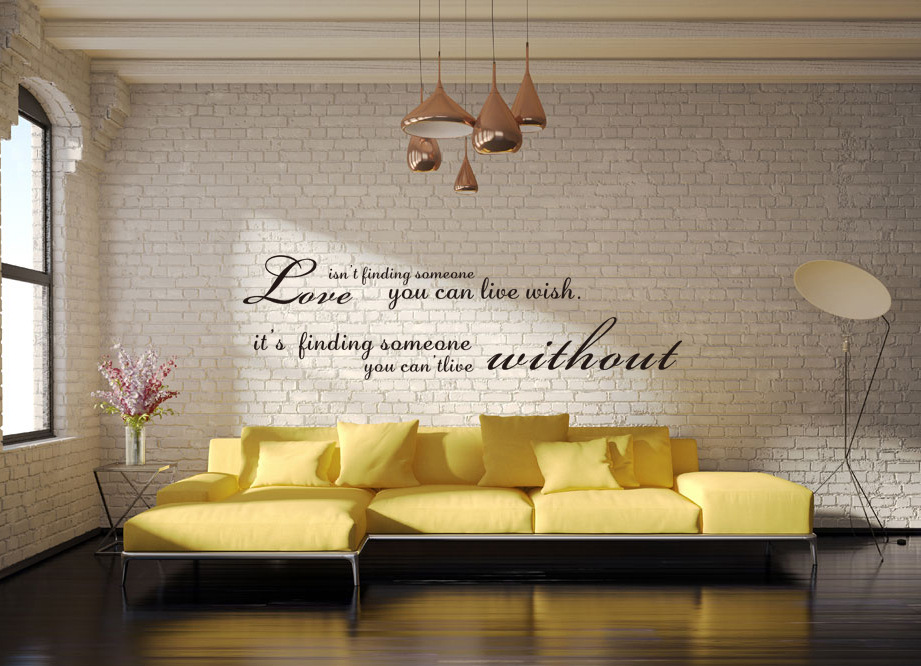 DIY Large Size Home Love Quotes Art Wall Stickers Removable Living Room Poster Vinyl Kitchen Decoration Home Decor Mural(China (Mainland))
