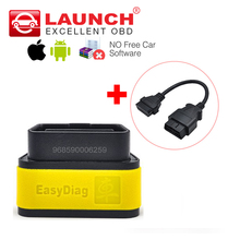 Launch X431 Easydiag 2.0 Diagnostic Tool Original Easy diag for Android/IOS 2in1 Update Online + OBD 16pin extension cable(Gift)