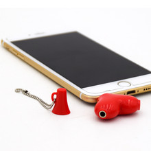 Mini Cute 1 to 2 Heart-shaped 3.5 Jack Aux Audio Cable Earphone Music Share Splitter for Apple iPhone 6 6s iPad iPod MP3 speaker
