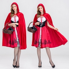 CFYH 2018 New Clothing Halloween Stage Little Red Riding Hood Costumes(China)