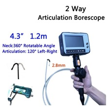 2.8mm 2 Way Direction 1.2M Rotational Inspection Camera Industry Endoscope Video Borescope 4.3inch LCD USB SD Card ,VD-2ED28(China)