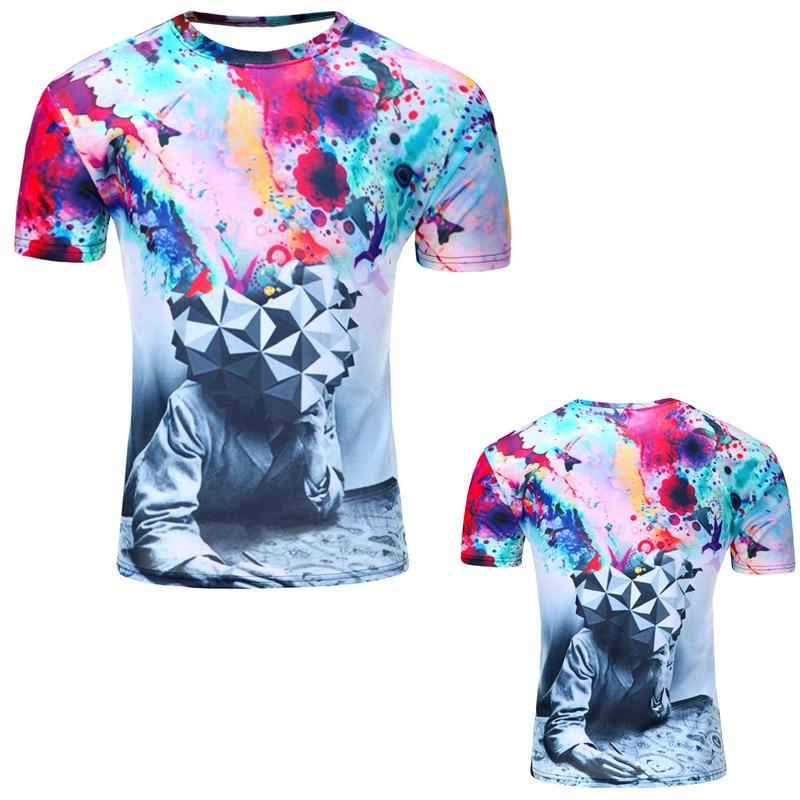 12 Color 3d print Lightning cat t shirt 12