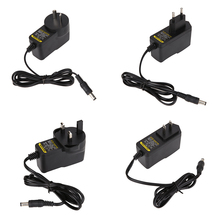 AC to DC 5V 2A Power Supply Adapter 5.5mm*2.1mm Wall Plug Charger Cord Switching Converter with AU/EU/UK/US Plug