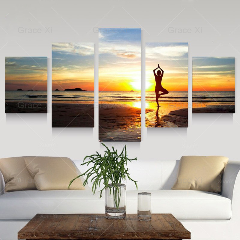 Seascape Boat Nature Sunset Canvas Art Picture Prints Wall Home Decor Framed
