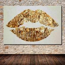 Hand Painted Modern Abstract Big Lips Oil Painting On Canvas Hand Made Cartoon Painting Wall Art Picture For Office Decoration