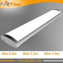 6pcs 40w triproof led lamp 50w 600mm 1200mm 1500mm waterproof food factory lighting 60w 80w linear lamp SMD 5 years warranty