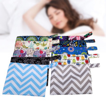 1PC Waterproof Zip Wet Bag Menstrual Aunt Towel Pouch Reusable Storing Mama Cloth Sanitary Diaper Nappy Maternity Pad Travel bag